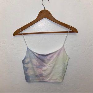 ARITZIA WILFRED Pastel tye dye crop top
